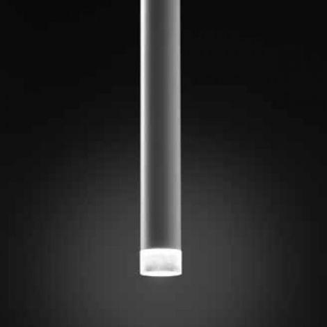 Sospensione co-line system 850 1s 6w led bianco dimmerabile metallo bianco nero sabbia cilindro moderno, lunghezza filo 2 metri - CO-LINE SYSTEM-856-1S-BI-2m