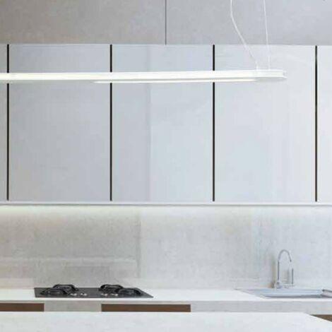 Sospensione co-tratto 754 90s 6000lm 45w led modulo lampadario moderna metallo rettangolare ip20, finitura metallo bianco - CO-TRATTO-754-90S-White