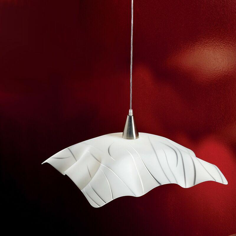 Lampadario moderno 2570 sp sg e27 led vetro sospensione, dimensione l50x50 - Due P Illuminazione