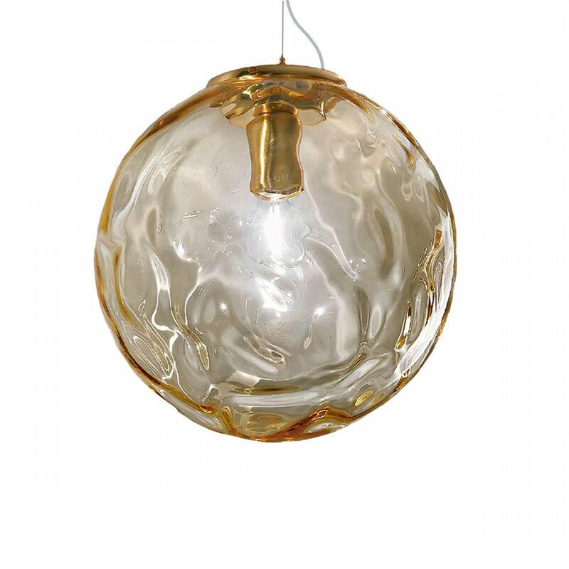 Lampadario classico 2585 e27 e14 led vetro sospensione, dimensione diam 30 cm - Due P Illuminazione