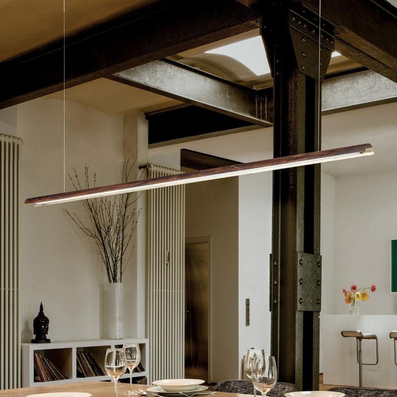Sospensione fb-tile 2121 s1 24w led 2200lm touch dimmer metallo monoemissione lampadario classico moderno ufficio tavolo interno, finitura metallo
