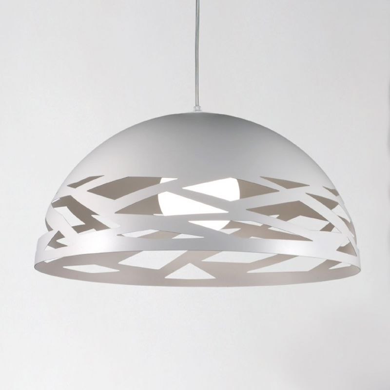 Lampadario moderno 2644 sg e27 led metallo sospensione - Due P Illuminazione