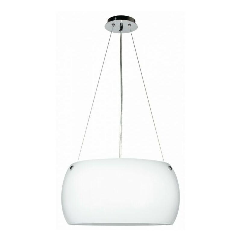 Shop-day - Lampadario a sospensione circolare bianco 60 watt E27