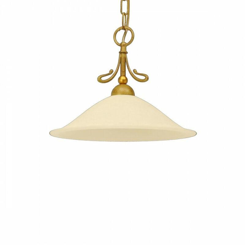 Sospensione lm-2383 1s e27 led classica metallo vetro lampadario interno