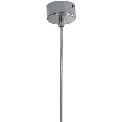 Sospensione Moderno Cilindrico Metallo Cromato Lampadario Interno Gu10 Ambiente I-fluke-s Cr -