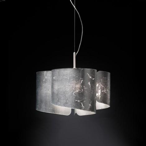 Sospensione sn-papiro 0370 e27 led vetro decorato lampadario moderno ...