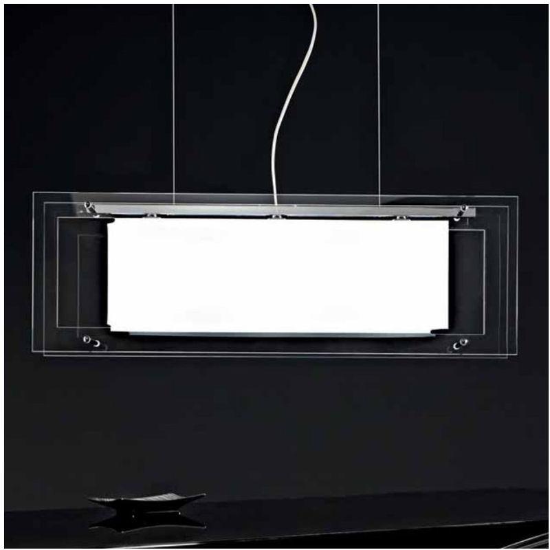 Sospensione sn-spioncina e27 metallo vetro moderno lampadario interno ip20