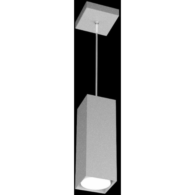 Sospensione tp-plate 1129 s25 gx53 led 28h metallo bianco grigio sabbia calata cubo moderno quadrata interno, finitura metallo grigio - TOP LIGHT