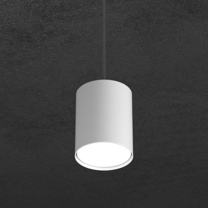 Sospensione tp-shape 1143 s10 gx53 led metallo bianco grigio sabbia lampada parete cilindro moderna interno, finitura metallo bianco