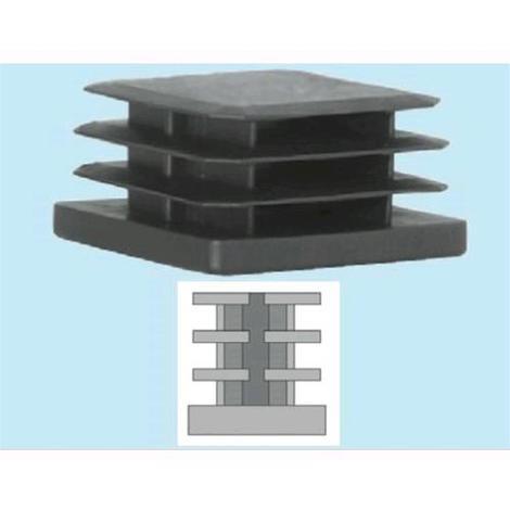 Sottopiedi Puntali Alettati Quadri Neri In Polietilene 25x25mm Conf 50pz