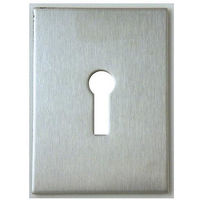 Souber Mortice Keyhole Jumbo Self Adhesive Escutcheon Satin Stainless - size - color