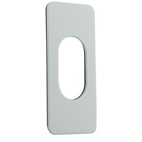 Souber Narrow Oval Screw On Escutcheon White Gloss - size - color