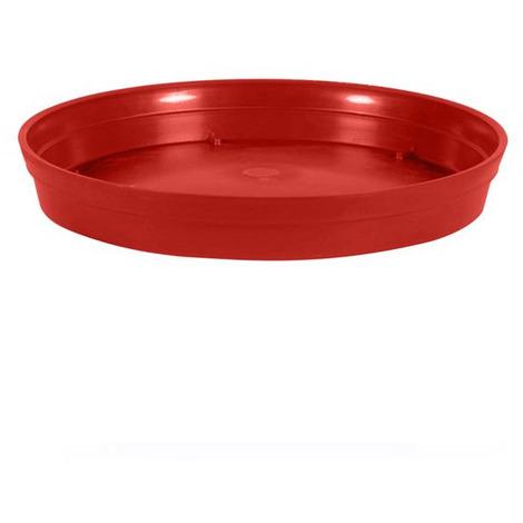 Soucoupe Ø15 cm pour pot de fleur Toscane Ø20 cm- Rouge Rubis