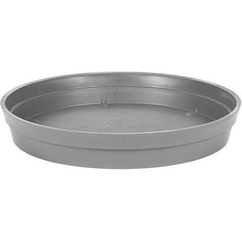 Soucoupe Ø 40 cm pour pot Ø 60 cm - Gris béton