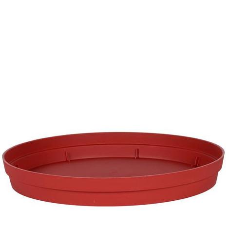 Soucoupe Ø54 cm pour pot de fleur Toscane Ø80 cm- Rouge Rubis