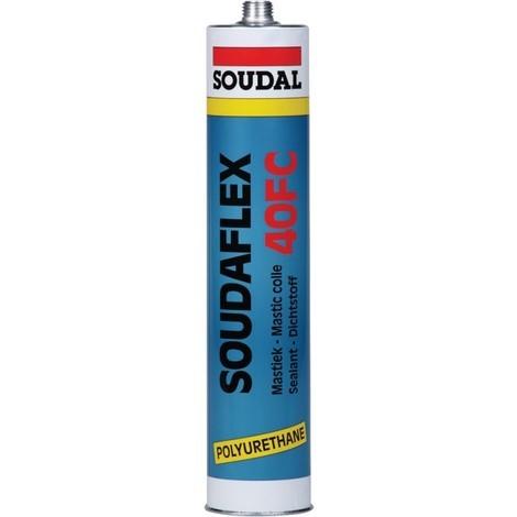 Soudaflex 40FC Mastic colle PU 310ml noir (MDI) SOUDAL (Par 12)
