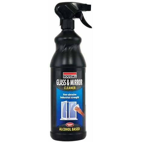 Soudal 1L Glass & Mirror Cleaner Window Glazing Industry Alcohol Non Smear