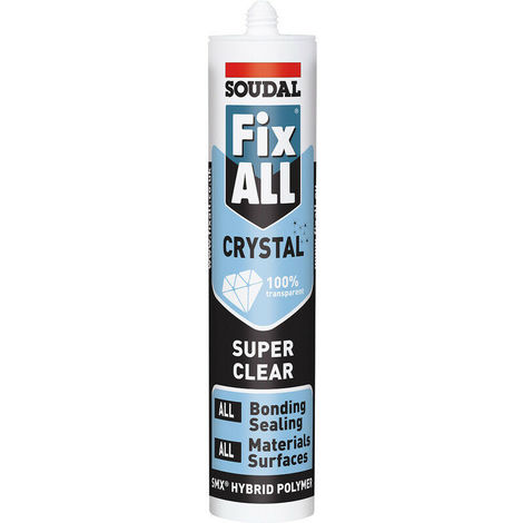 Soudal Clear Fix All Flexi Strong Polymer Sealant Adhesive Filler