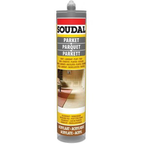 Soudal Dark Grey Parquet & Timber Laminate Hardwood Floor Gap Joint Filler