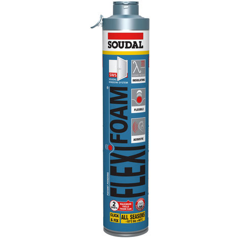 SOUDAL - Flexifoam mousse PU (CLICK&FIX) bleu 750ml RT2012 - 118318