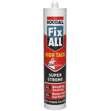 """main image of """"Soudal Grey Fix All High Tack Super Strong Hybrid Polymer Sealant Adhesive SMX"""""""