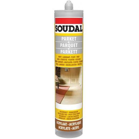 Soudal Light Grey Parquet & Timber Laminate Hardwood Floor Gap Joint Filler