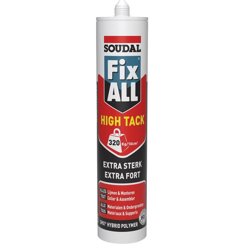 Colle 'Fix All High 'Tack' alu Noir 290ml - Soudal