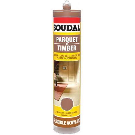 Soudal Merbau Parquet & Timber Laminate Hardwood Floor Gap Joint Filler