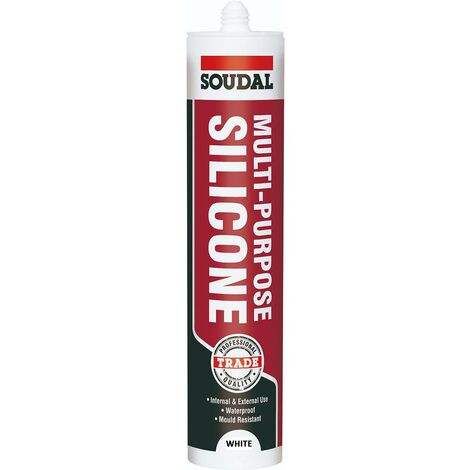 Soudal Multipurpose Silicone White 270ml