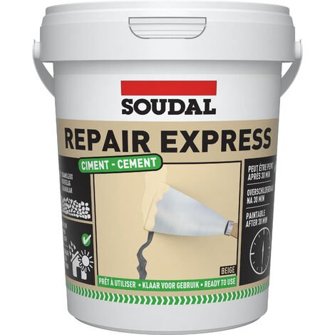 Soudal Repair Mortar Cement Ready Brick Pointing Crack Gap Filler Beige 900ml