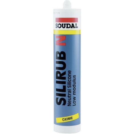 Soudal Silirub N Silikon Herstellerfarbe Brillant-Weiß 9308 300ml V739421