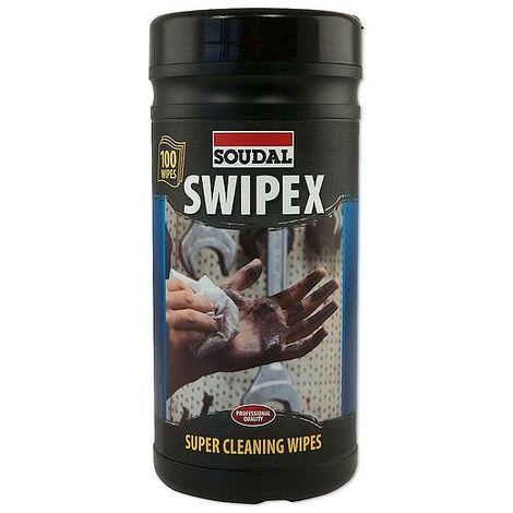 SOUDAL SWIPEX Feucht-Reinigungstücher - Spenderdose mit 100 Stück - 113551
