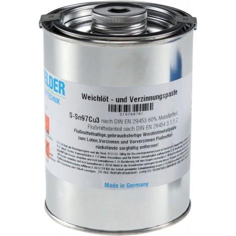 Soudure et pate d'étamage, sans plomb -Sn97Cu3 , 1000 g