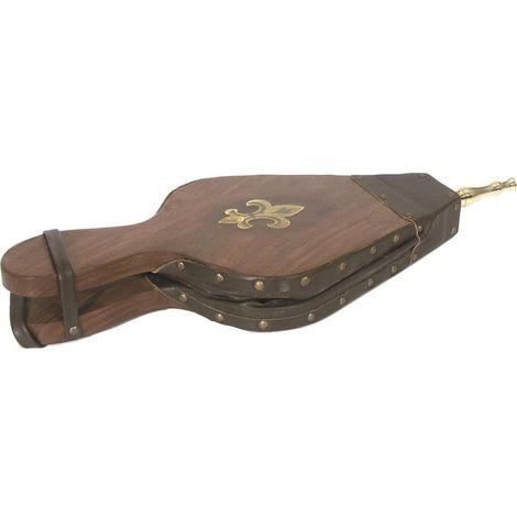 Soufflet en bois et simili cuir 47 x 19