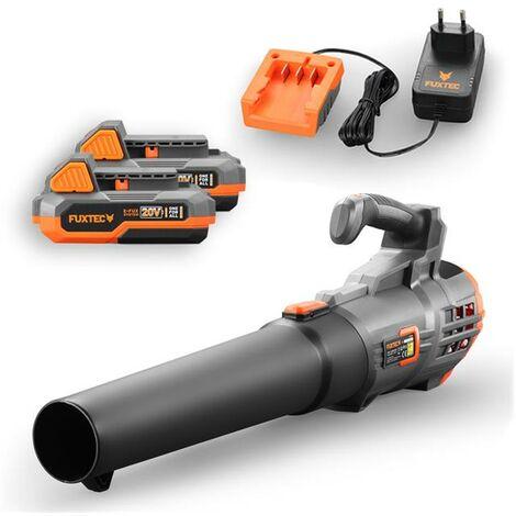 Souffleur de feuilles à batterie 20V FUXTEC FX-E1LB20 - set avec batterie 4Ah et chargeur 1A