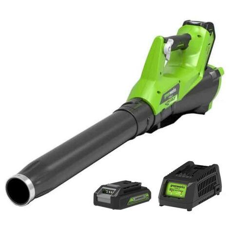 Souffleur GREENWORKS 40V - 1 batterie 2.0 Ah - 1 chargeur - G40ABK2
