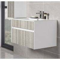 Soul Ash Grey 800mm Wall Hung Vanity Unit & Basin