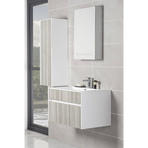 Soul Ash Grey Vanity Unit Furniture Suite