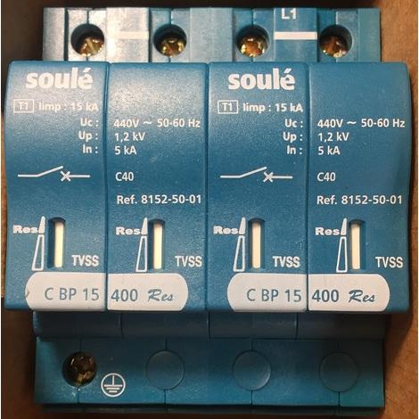 Soulé 81530302 Paratonnerre Blue pro' BP15 BI D Rés TS - Type 1 - 2P