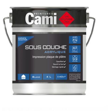 SOUS-COUCHE ACRYLIQUE CAMI BLANC 4L- Sous- Couche idéale pour les finitions intérieures- CAMI