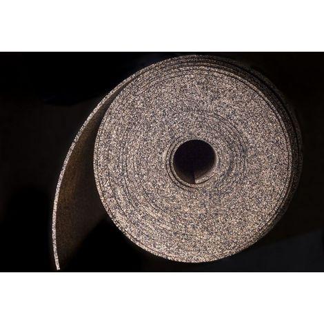 Sous-couche caoutchouc et liège en rouleau - 50% liège - 50% caou. épaisseur 1,5mm | 1,5mm - 10 m²