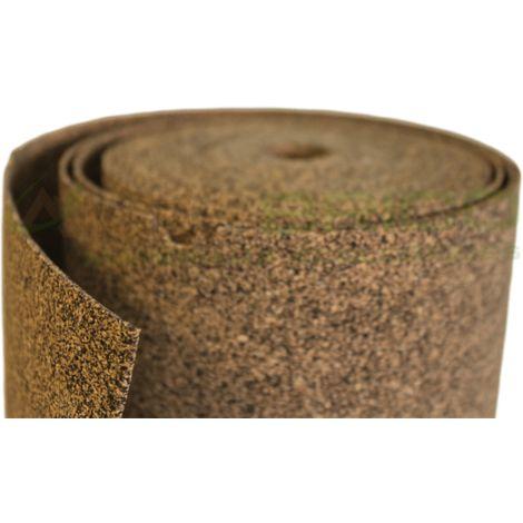 Sous-couche caoutchouc et liège en rouleau - 50% liège - 50% caou. épaisseur 2mm | 10m x 1m - 10 m²
