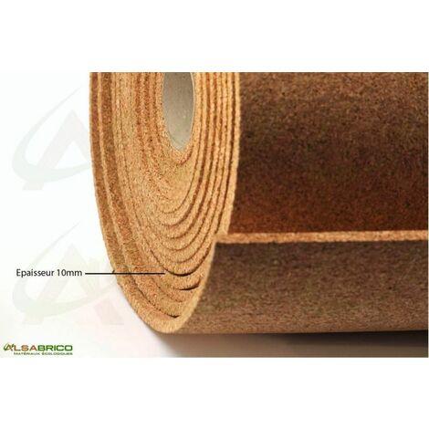 Sous-couche liège en rouleau, standard épaisseur 10mm | 10mm - 10 m²