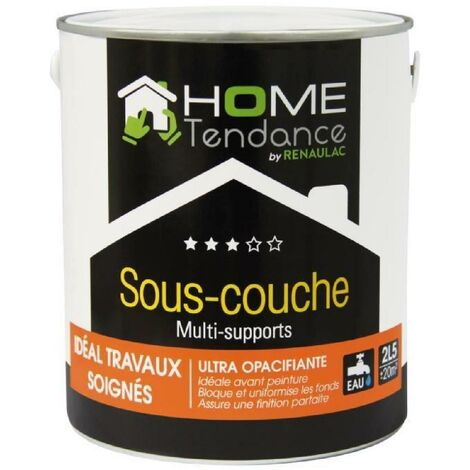 Sous-couche multi-support acrylique mat blanc 2.5L - HOME TENDANCE by Renaulac