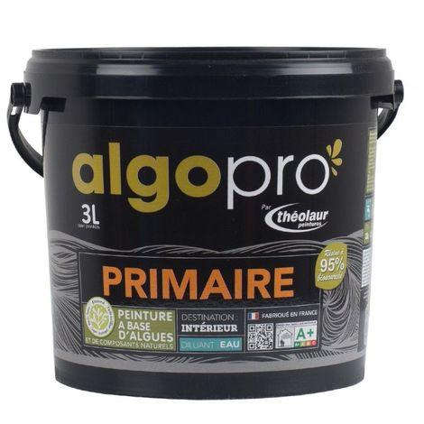 Sous-couche naturelle bio-sourcée à base d'huile végétale et d'algues pour murs, plafonds et boiseries : Algo Pro primaire
