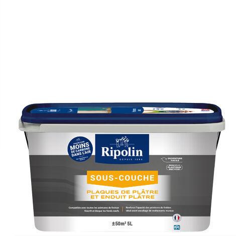 Sous-Couche Plaque de Plâtre, Mat, Blanc 5L Ripolin