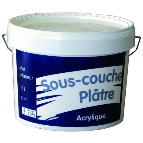 Sous-couche plaques de plâtre acrylique blanc 10L