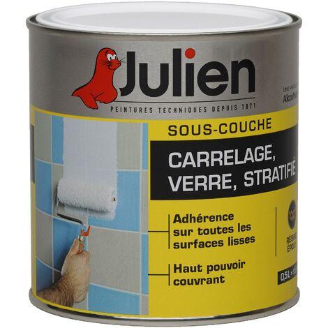 Sous-Couche Pour Verre, Stratifié, Carrelage Mural - aspect Satin Blanc 0,5L - Julien
