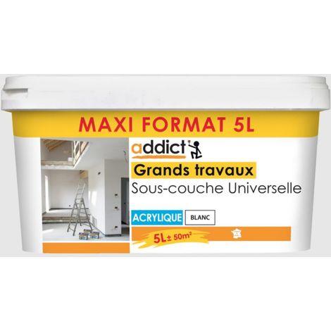 Sous-couche universelle Grands travaux acrylique 5L Blanc | Couleur: Blanc
