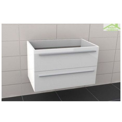 Sous meuble de lavabo RIHO BRONI 80x48x H 50,5 cm - Bois laqué satiné mat